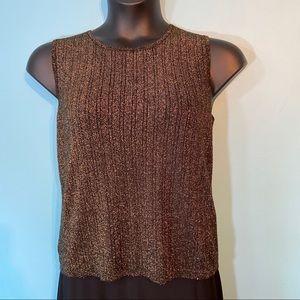 Jessica metallic sleeveless sweater